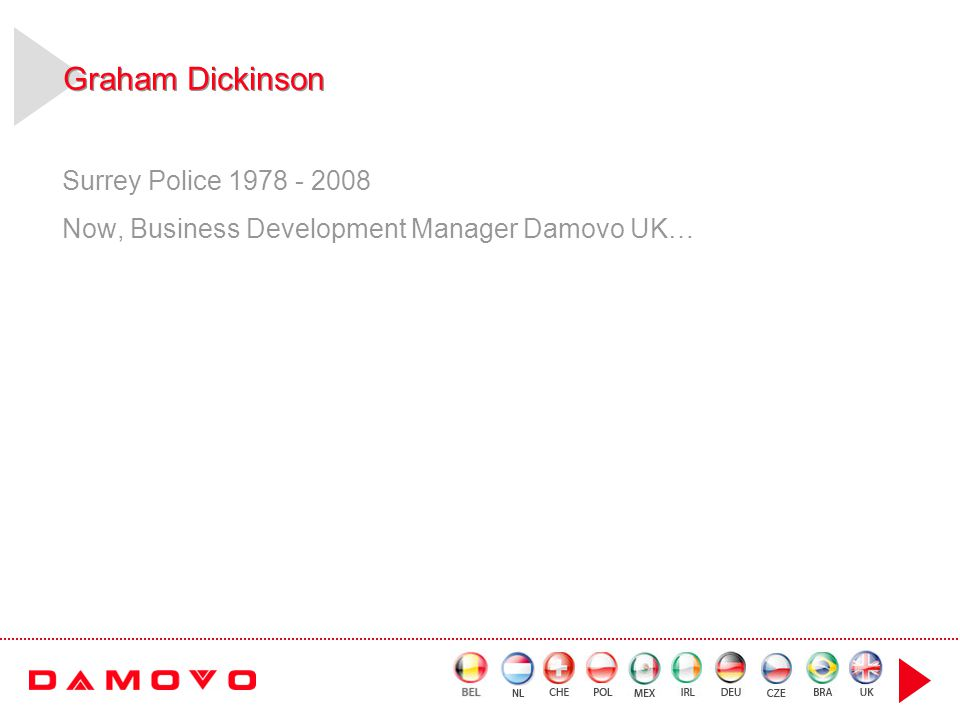 Graham Dickinson Surrey Police 1978 - 2008 Now, Business Development Manager Damovo UK…