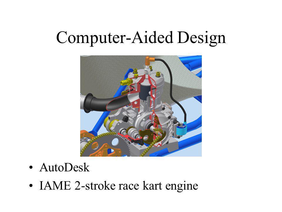 Computer-Aided Design AutoDesk IAME 2-stroke race kart engine