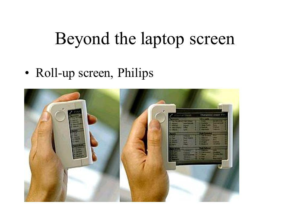 Beyond the laptop screen Roll-up screen, Philips