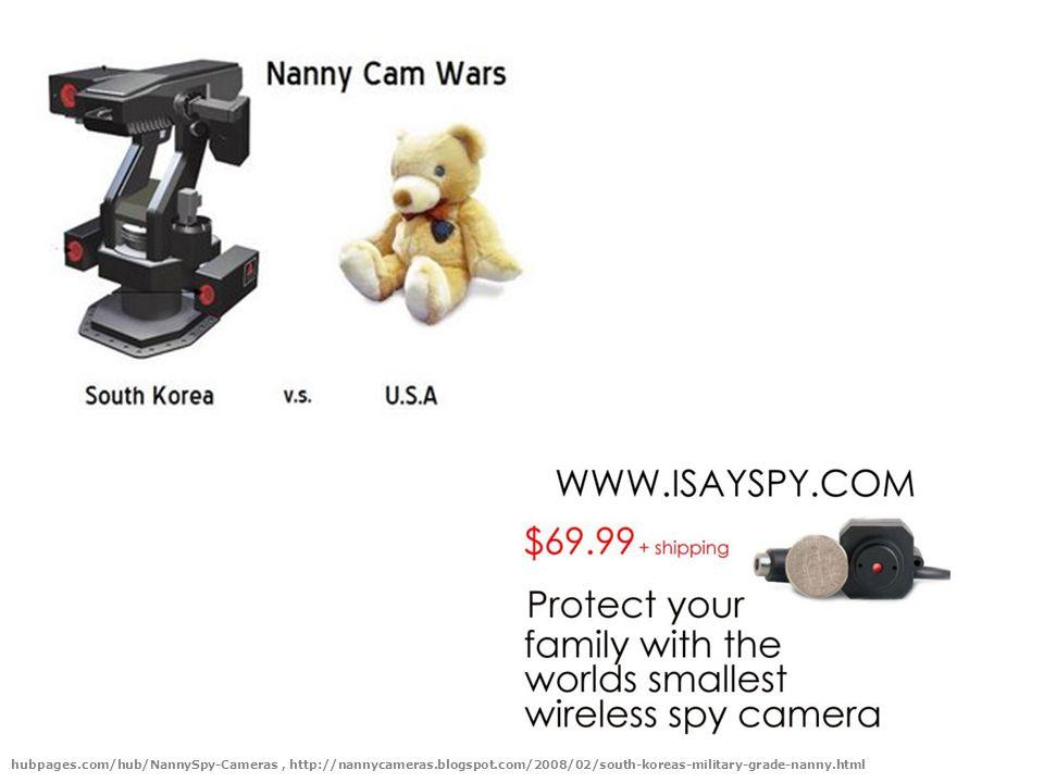 hubpages.com/hub/NannySpy-Cameras, http://nannycameras.blogspot.com/2008/02/south-koreas-military-grade-nanny.html