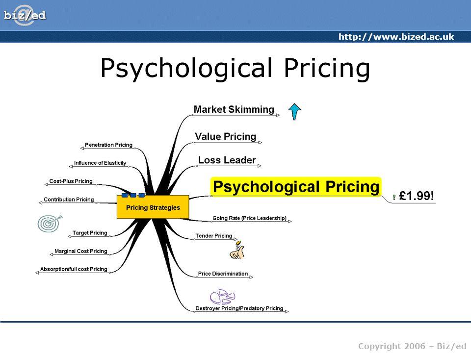 http://www.bized.ac.uk Copyright 2006 – Biz/ed Psychological Pricing