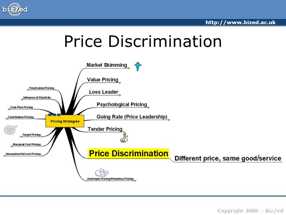 http://www.bized.ac.uk Copyright 2006 – Biz/ed Price Discrimination