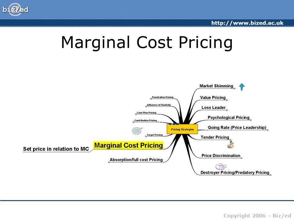 http://www.bized.ac.uk Copyright 2006 – Biz/ed Marginal Cost Pricing