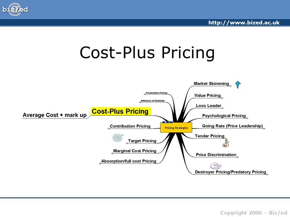 http://www.bized.ac.uk Copyright 2006 – Biz/ed Cost-Plus Pricing
