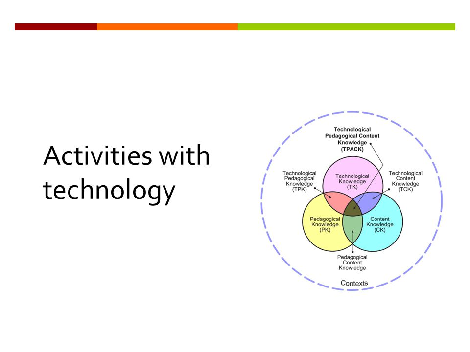 Activities with technology