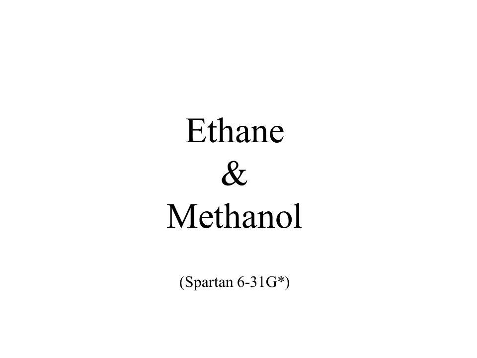 Ethane & Methanol (Spartan 6-31G*)