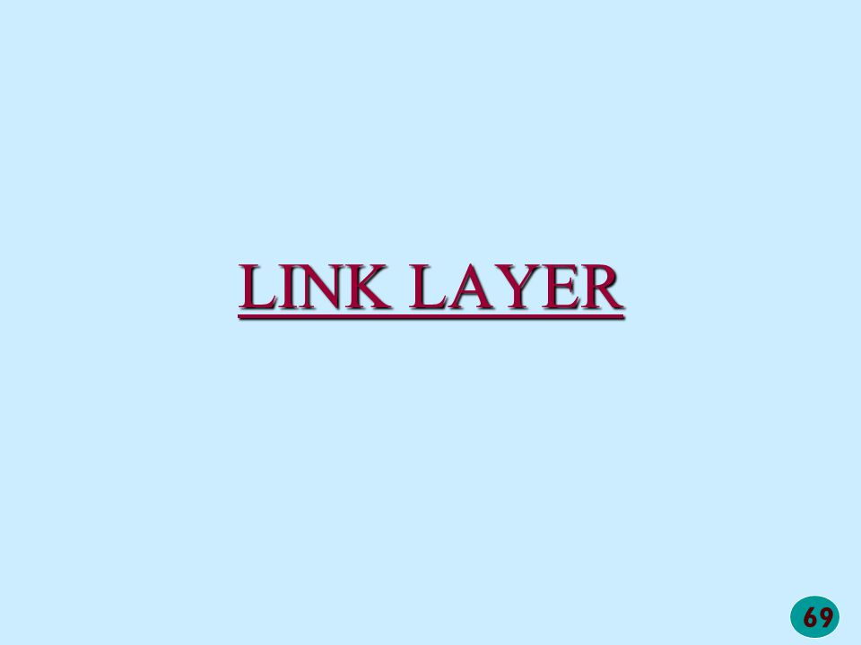 69 LINK LAYER