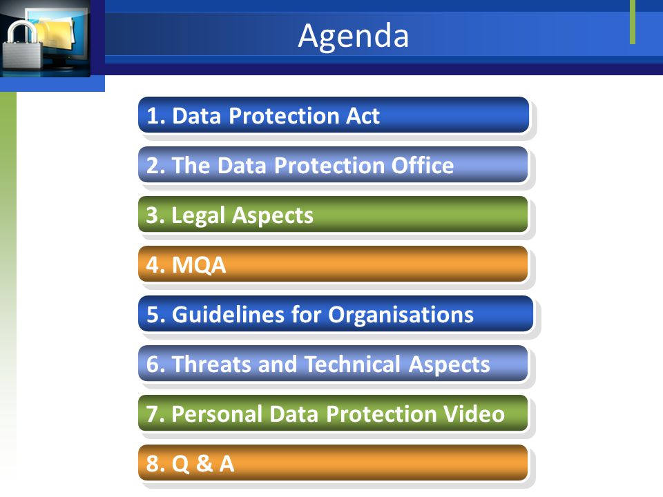 Agenda 1. Data Protection Act 2. The Data Protection Office 3.