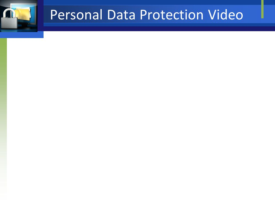 Personal Data Protection Video