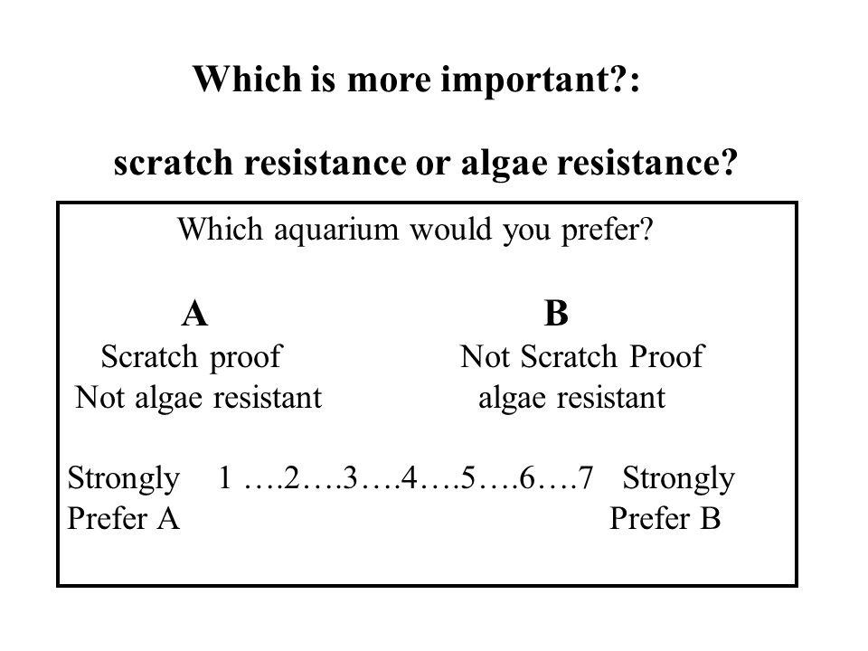 Which is more important : scratch resistance or algae resistance.