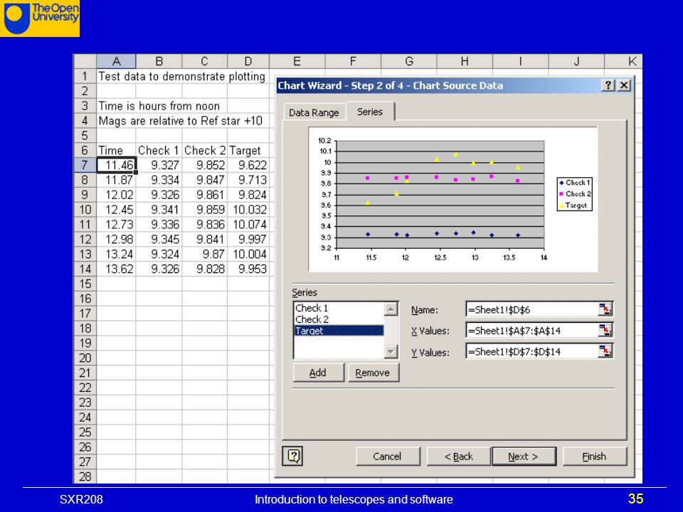 SXR208 Introduction to telescopes and software 35
