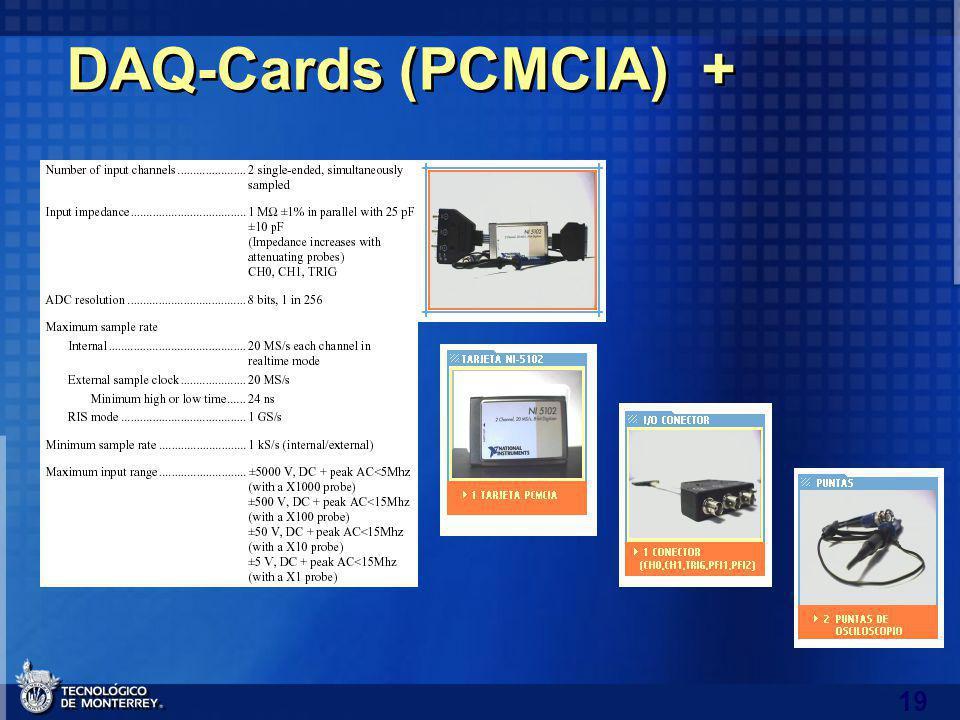 19 DAQ-Cards (PCMCIA) +