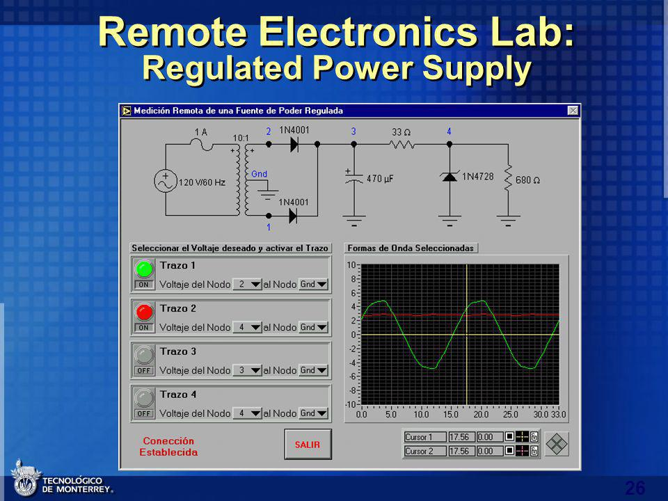 26 Remote Electronics Lab: Regulated Power Supply