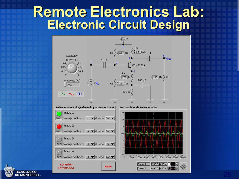 28 Remote Electronics Lab: Electronic Circuit Design