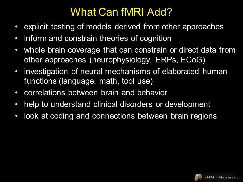 What Can fMRI Add.