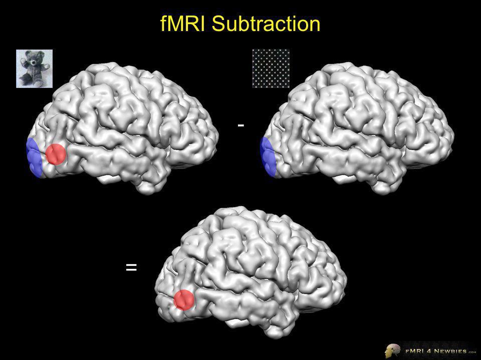 fMRI Subtraction - =