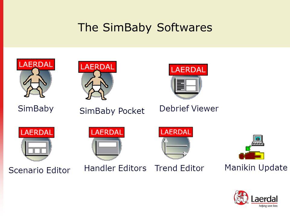 The SimBaby Softwares SimBaby Debrief Viewer Scenario Editor Handler EditorsTrend Editor Manikin Update SimBaby Pocket