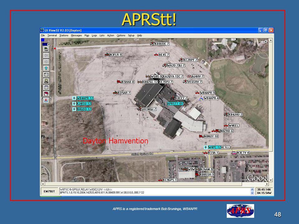APRS is a registered trademark Bob Bruninga, WB4APR 48 APRStt! Dayton Hamvention