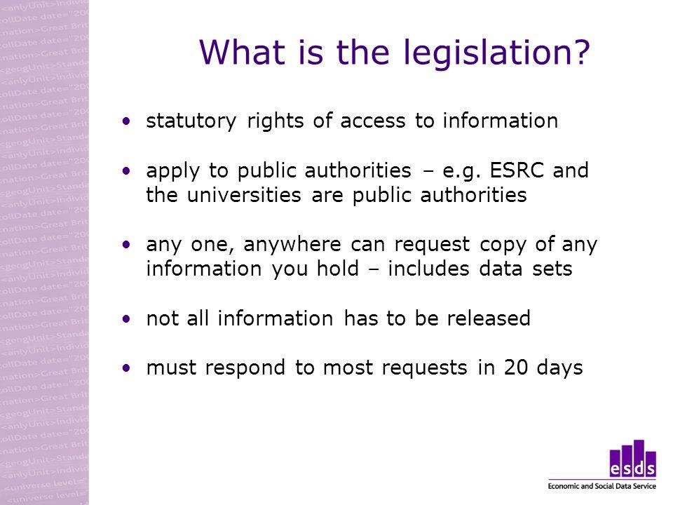 What is the legislation.