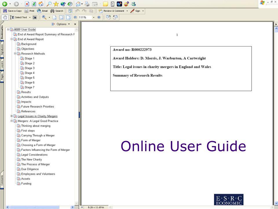 Online User Guide