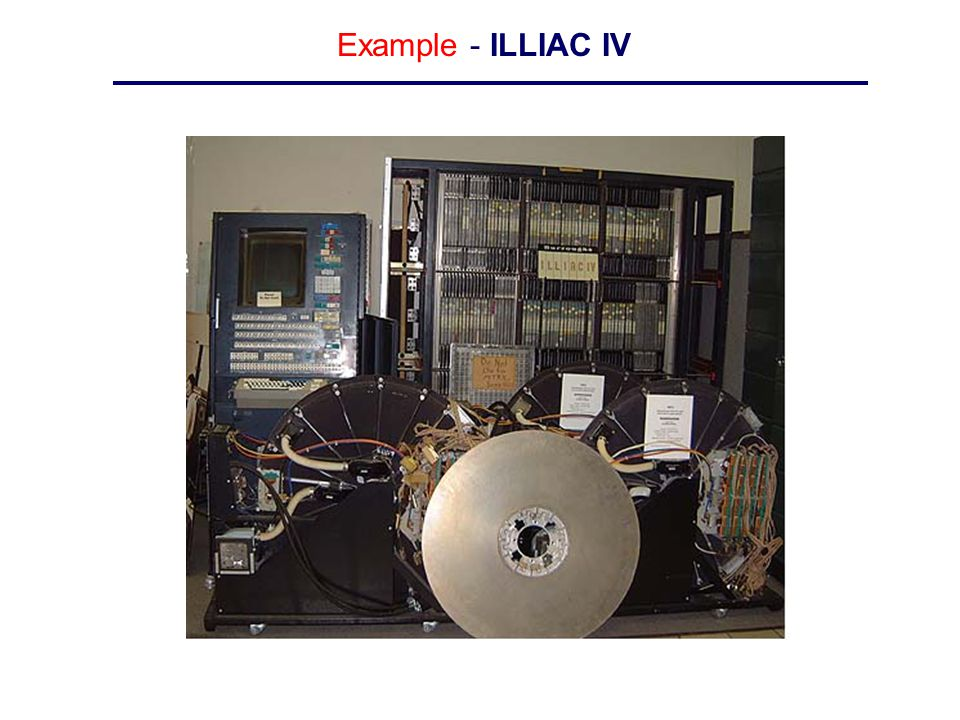 Example - ILLIAC IV