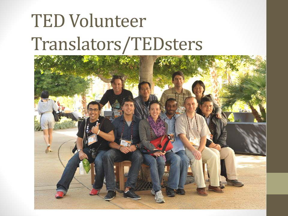 TED Volunteer Translators/TEDsters