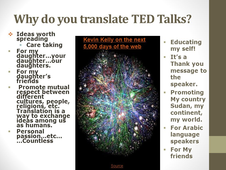 Why do you translate TED Talks.