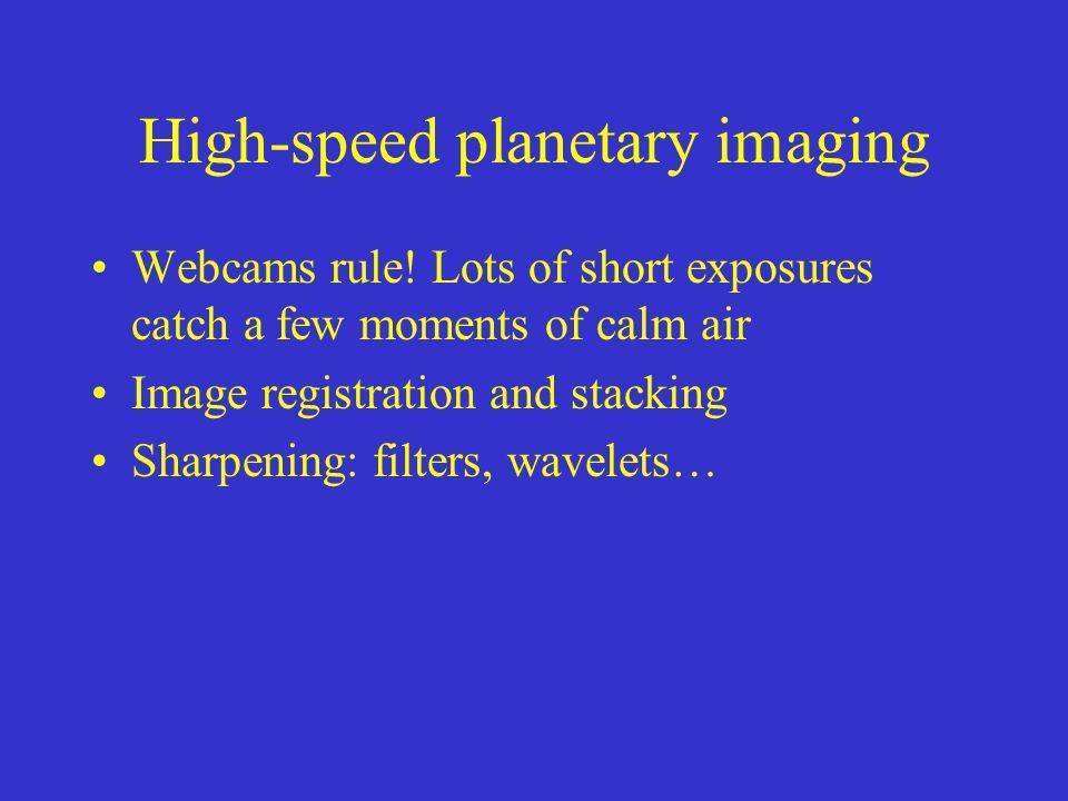 High-speed planetary imaging Webcams rule.
