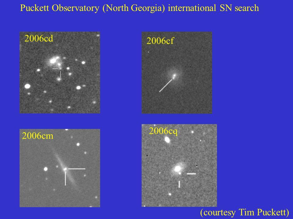 Puckett Observatory (North Georgia) international SN search 2006cd 2006cf 2006cm 2006cq (courtesy Tim Puckett)