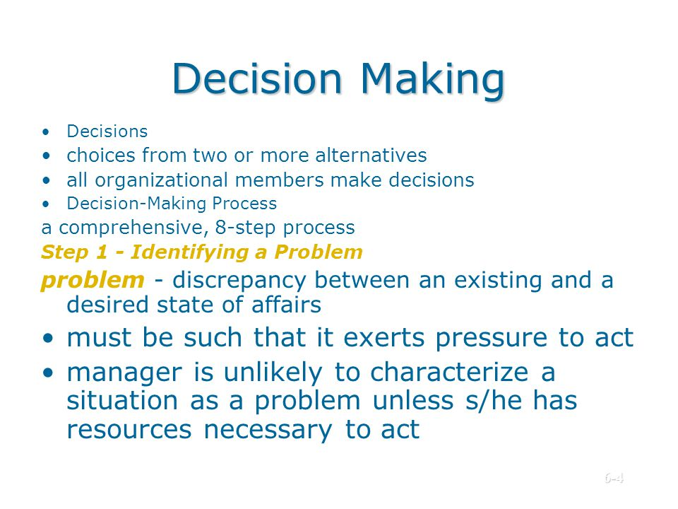 6 decision making