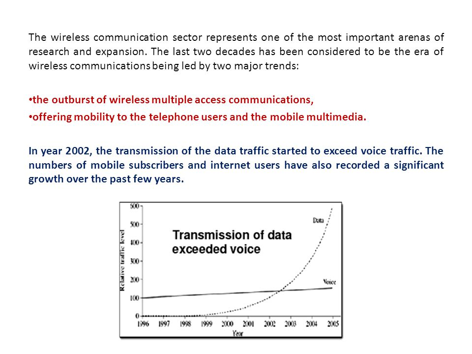The wireless communication sector represents one of the most important arenas of research and expansion. The last two decades has been considered to b