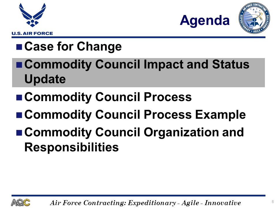 Air Force Contracting: Expeditionary - Agile - Innovative 19