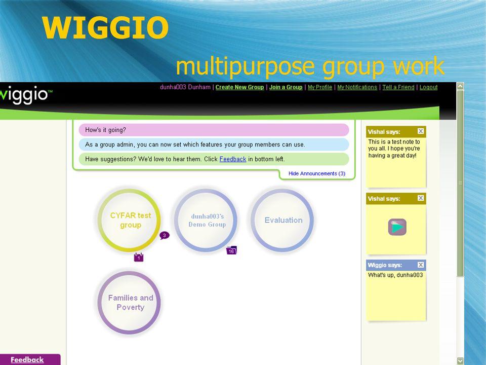 WIGGIO multipurpose group work