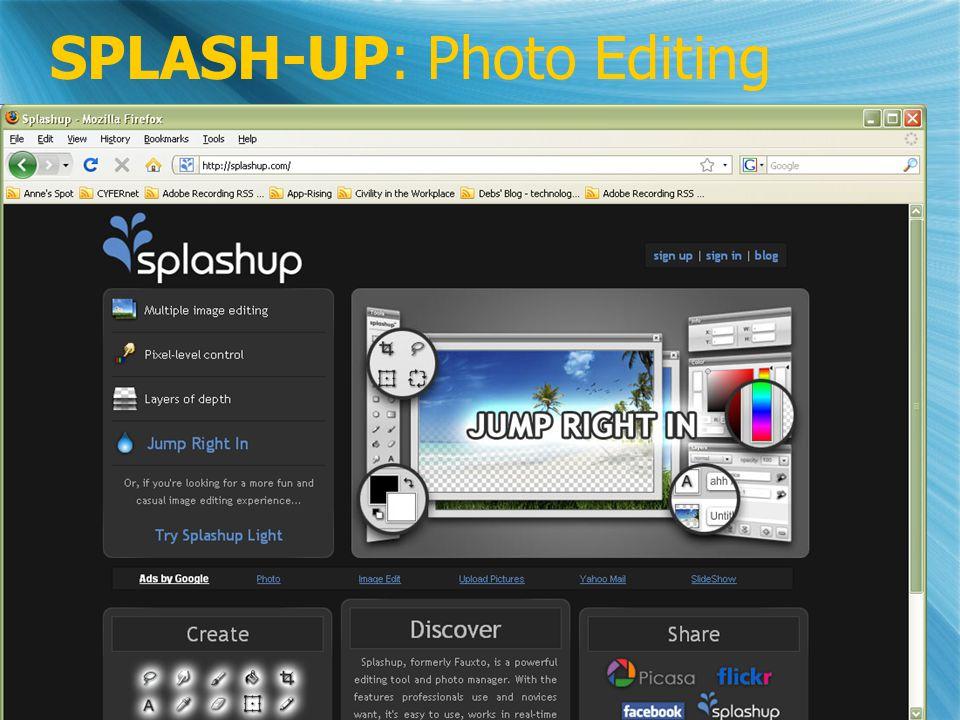 SPLASH-UP: Photo Editing