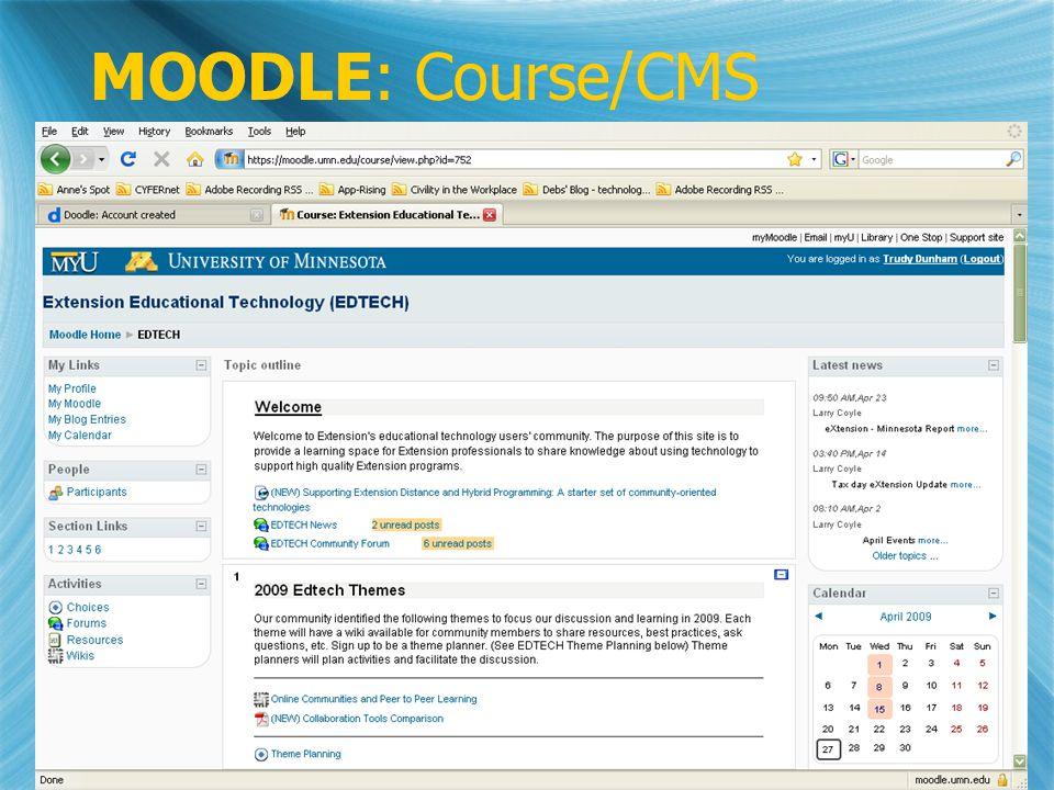 MOODLE: Course/CMS