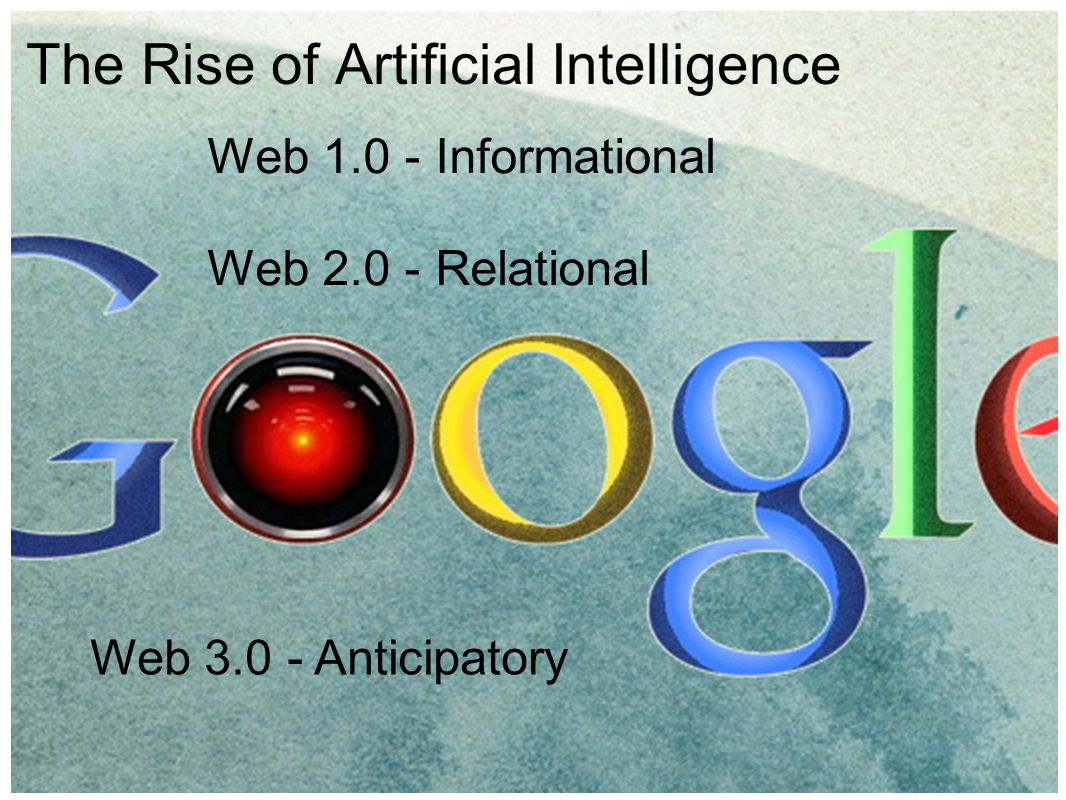 The Rise of Artificial Intelligence Web 1.0 - Informational Web 2.0 - Relational Web 3.0 - Anticipatory