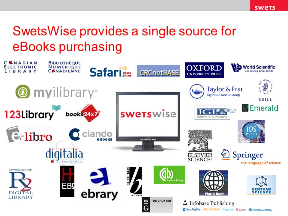 SwetsWise provides a single source for eBooks purchasing