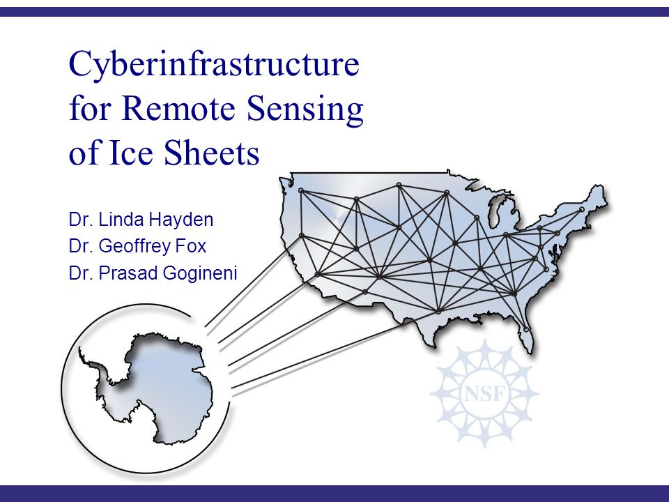 C YBERINFRASTRUCTURE C ENTER FOR P OLAR S CIENCE (CICPS) Cyberinfrastructure for Remote Sensing of Ice Sheets Dr.