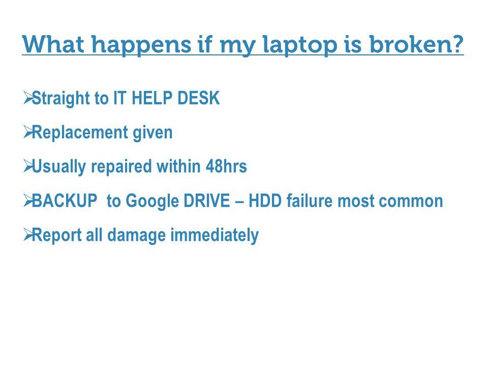 What happens if my laptop is broken.