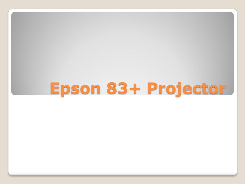 Epson 83+ Projector