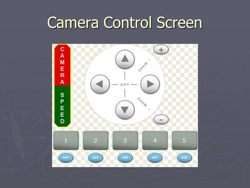 Camera Control Screen