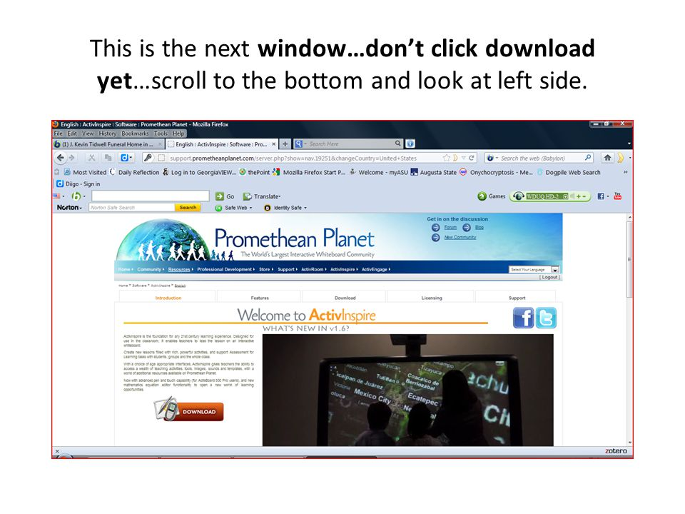 This is the next window…dont click download yet…scroll to the bottom and look at left side.