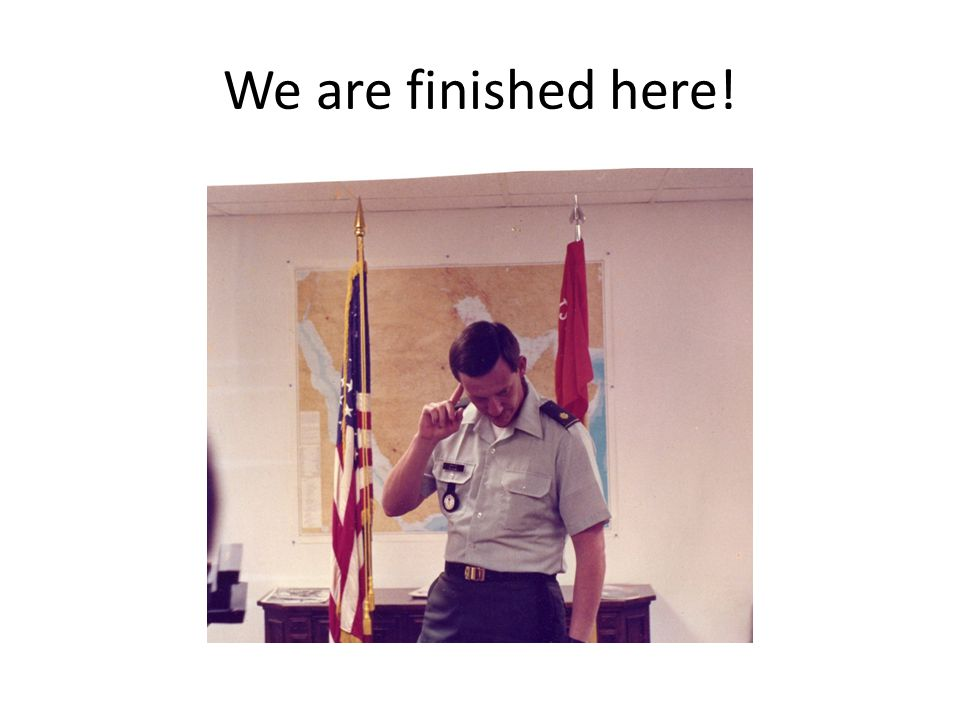 We are finished here!