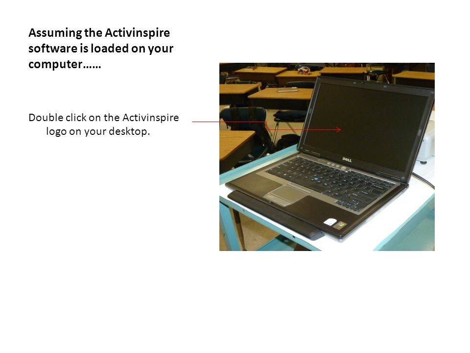 Activeinspire is activated Activinspire is loading, (the picture on the laptop is the same).