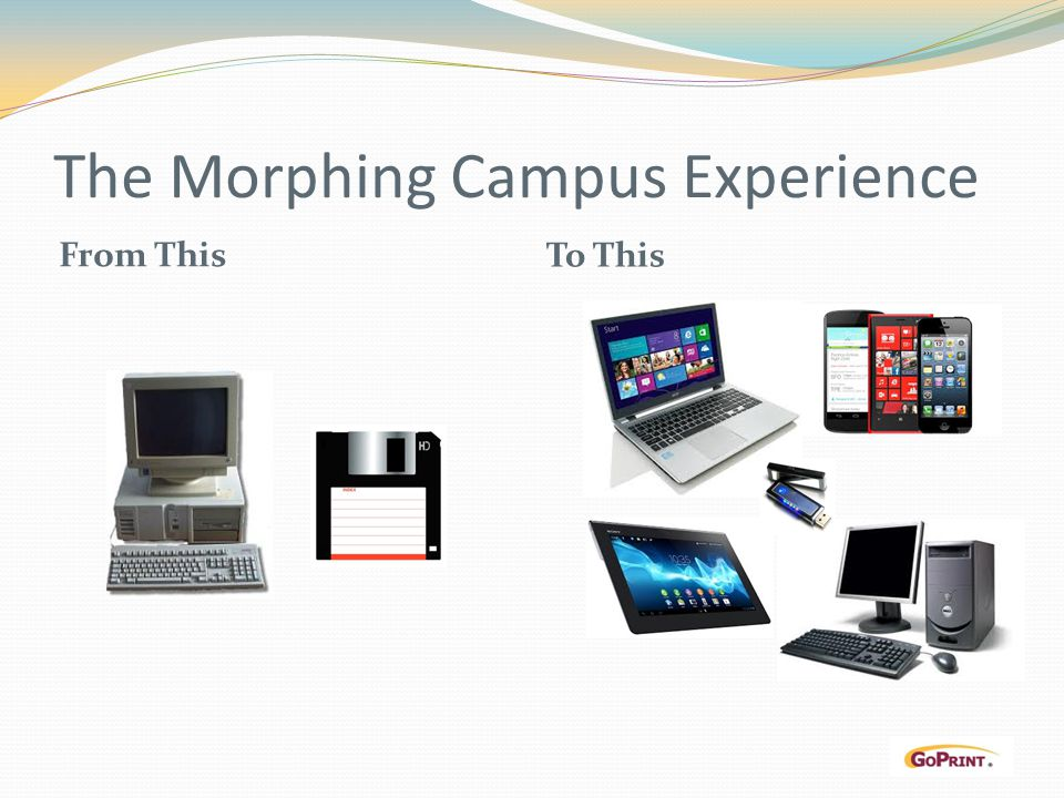 The Morphing Campus Experience From This To This