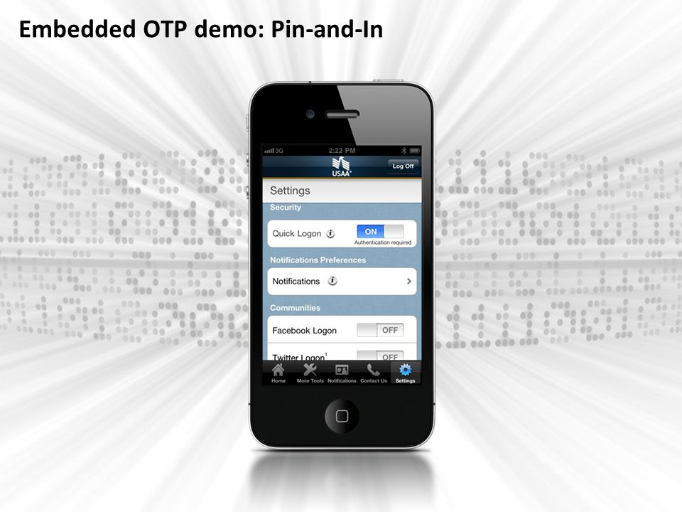 Embedded OTP demo: Pin-and-In