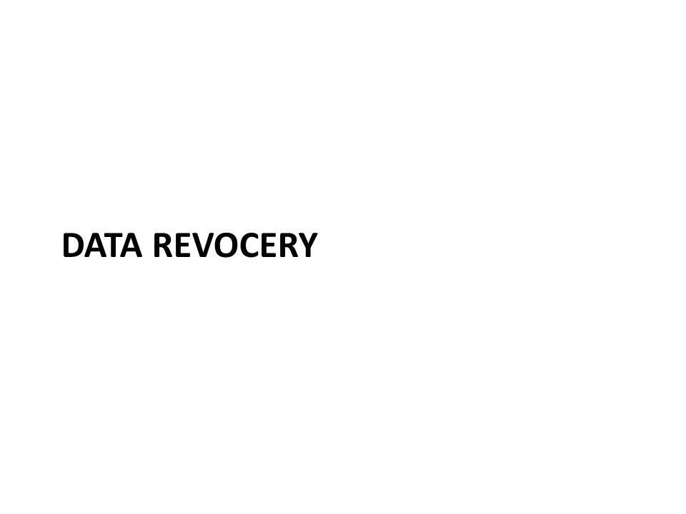 DATA REVOCERY