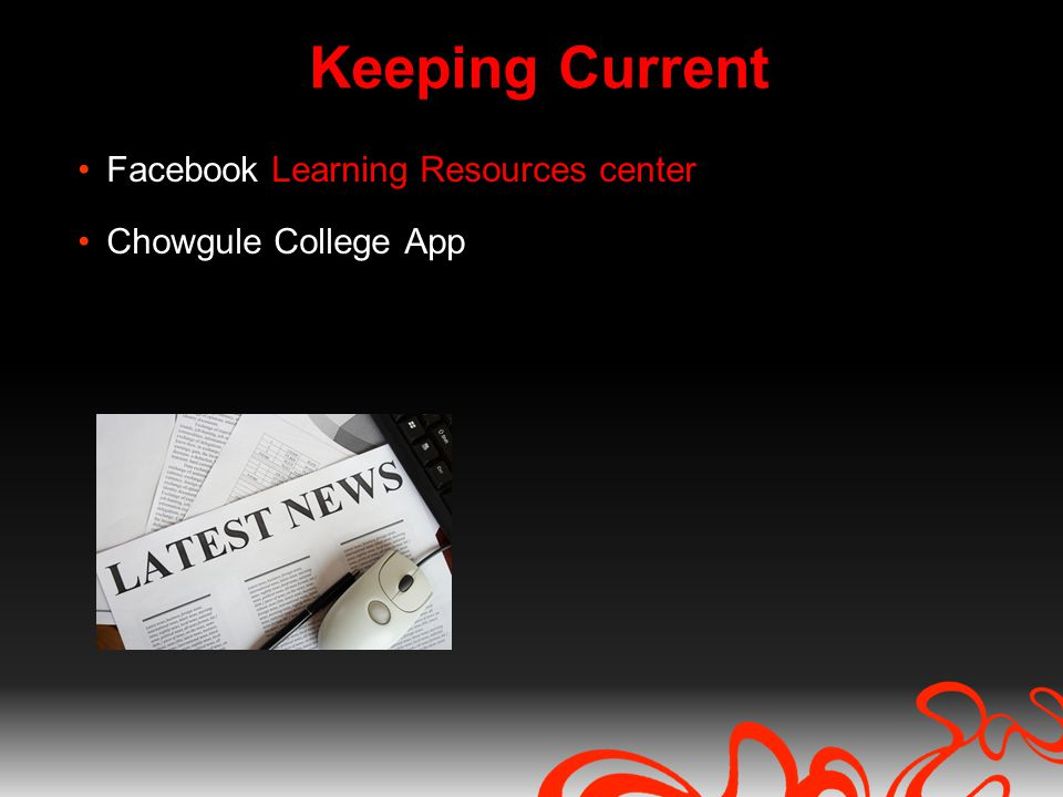 Keeping Current Facebook Learning Resources center Chowgule College App