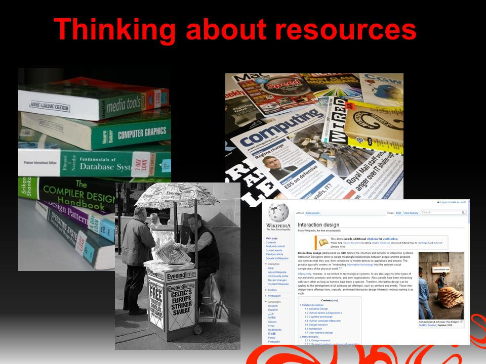 Thinking about resources