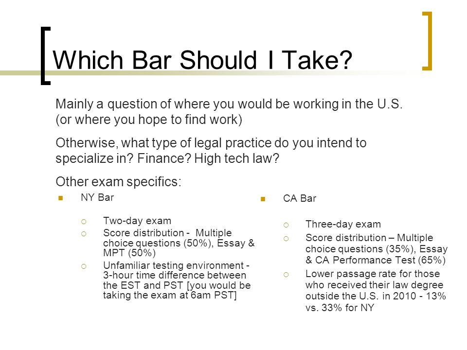 Which Bar Should I Take.